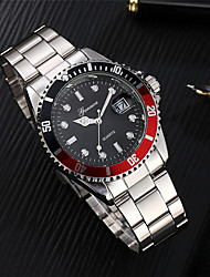 Fashion Men's Watch Military Stainless Steel Date Sport Quartz Analog Wrist Watch relogio dropshopping free shipping