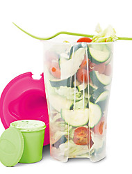 1Pcs    Fruit And  Vegetable  Cups  Salad To Go Cup With Fork  Keeps Salads Fresh  Random Color