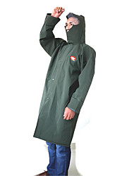 Motorcycle long piece of body rain pond crystal jelly green raincoat PVC windbreaker transparent waterproof single