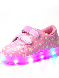 Girls' Sneakers Comfort Light Up Shoes Summer Fall Customized Materials Walking Shoes Casual Outdoor Magic Tape Flat Heel Blushing Pink