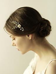 economico -stile elegante del copricapo del bastone dei capelli del perno di capelli della perla dell'imitazione di cristallo