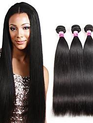 Ciocche a onde capelli veri Peruviano dritto 1 anno 3 pezzi tesse capelli