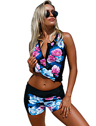 baratos -Mulheres Materiais Leves, Reduz a Irritação, Elástico Tactel Roupa de Banho Roupa de Praia Roupa de Banho Natação / Mergulho / Surfe