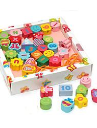 cheap -Building Blocks Math Toys Toys Square Wooden Children's Pieces