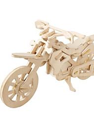Недорогие -3D пазлы Пазлы Деревянные игрушки Летательный аппарат Мото Знаменитое здание Своими руками деревянный Картон Классика внедорожник Детские Взрослые Универсальные Мальчики Девочки Игрушки Подарок