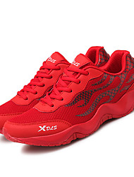 Running Shoes Men's Athletic Shoes Light Soles Tulle Summer Fall Athletic  Light Soles Lace-up Low Heel Ruby White Sport Shoes