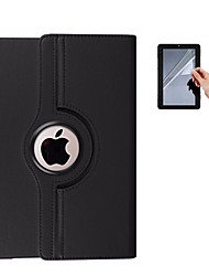 cheap -Case For Apple iPad Mini 4 iPad Mini 3/2/1 iPad 4/3/2 iPad Air 2 iPad Air 360° Rotation Full Body Cases Solid Color Hard PU Leather for