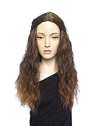 cheap -Women Synthetic Wig Long Deep Wave Brown Natural Wigs Costume Wig