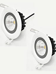 ZDM 2PCS 7W 600-650LM IP65 Waterproof White Round  LED ceiling light Semi outdoor Cold White/Warm White/  AC85-265V