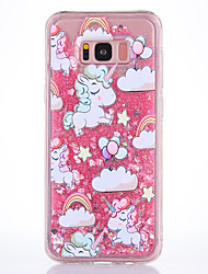 cheap -Case For Samsung Galaxy S8 S8 Plus Case Cover Unicorn Pattern TPU Material Full Soft Love Flash Powder Quicksand Phone Case For S7 S7 Edge