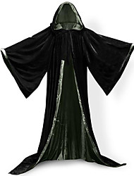cheap -Wizard Coat Cosplay Costume Cloak Witch Broom Halloween Props Party Costume Masquerade Unisex Christmas Halloween Carnival Children's Day