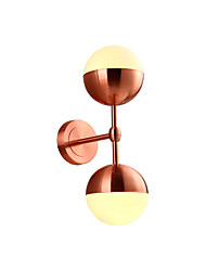 Double lights wall lamp Fashion Simplicity Vintage Industrial Metal based with Glass Material Shade of Wall lamp Wall Sconce