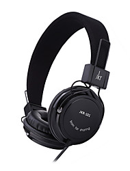 abordables -JKR 101 Sobre el oído Cinta Con Cable Auriculares Electroestático Teléfono Móvil Auricular Aislamiento de ruido DE ALTA FIDELIDAD