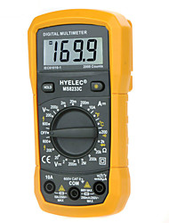 economico -hyelec ms8233c multifunzione mini multimetro digitale w / test di temperatura& retroilluminazione