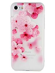 Недорогие -Кейс для Назначение Apple iPhone 7 Plus iPhone 7 С узором Рельефный Кейс на заднюю панель Цветы Мягкий ТПУ для iPhone 7 Plus iPhone 7