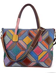 preiswerte -Damen Taschen Kuhfell Umhängetasche für Veranstaltung / Fest Normal Formal Ganzjährig Regenbogen