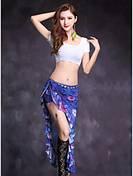 Belly Dance Outfits Women's Performance Modal Pattern/Print 2 Pieces Short Sleeve Natural Top / Skirts
