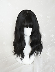 Punk Lolita Long Black Straight Lolita Wig