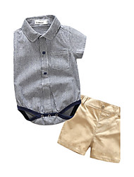 cheap -Baby Kids' Outdoor Party/ Evening Birthday Daily Going out Holiday Stripe Clothing Set