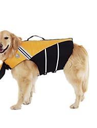 Gato Cachorro Colete Salva-Vidas Roupas para Cães Esportes Color Block Amarelo Rosa claro Ocasiões Especiais Para animais de estimação