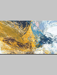 abordables -Pintada a mano Abstracto Horizontal,Abstracto Modern Un Panel Lienzos Pintura al óleo pintada a colgar For Decoración hogareña