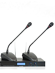 Professional Wireless Meeting Mic Double Gooseneck Conference Microphone System