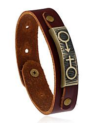 Retro New Fashion Alloy Original Punk Genuine Leather Bracelet