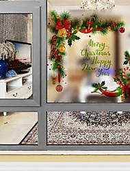 Window Film Window Decals Style Christmas Bell PVC Window Film