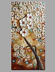 economico -Dipinta a mano Floreale/Botanical Moderno/Contemporaneo Un Pannello Tela Hang-Dipinto ad olio For Decorazioni per la casa