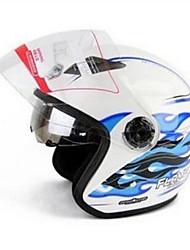 cheap -YOHE YH-856 Double Lens Helmet Helmet Men And Women Electric Car Motorcycle Dual Mirror Helmet Color Version