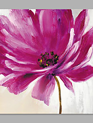 IARTS® Hand Painted Modern Abstract Gorgeous Light Pink Purple Flower Right on Canvas Stretched Frame Handmade Oil Painting For Home Decoration