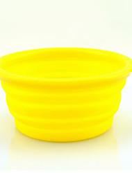 Недорогие -Собака Миски и бутылки с водой Животные Чаши и откорма Компактность Черный Оранжевый Желтый