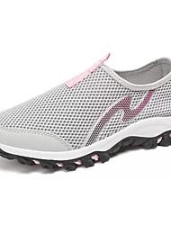 Women's Loafers & Slip-Ons Comfort Summer Tulle Walking Shoes Casual Flat Heel Dark Blue Light Grey 2in-2 3/4in