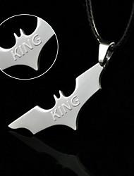cheap -2015 factory direct export of wholesale jewelry pendant necklace titanium stainless steel Batman bat