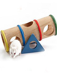 Hamster Bois Durable Roues d'exercice Beige