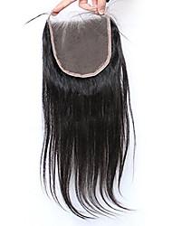 La chiusura diritta di seta del merletto della chiusura del merletto 5x5inch di seta con i capelli del bambino