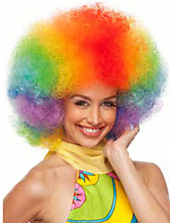 Afro Jumbo Festival Fans Wig clown RAINBOW Costume Halloween Dress Up party Wig Synthetic Hair