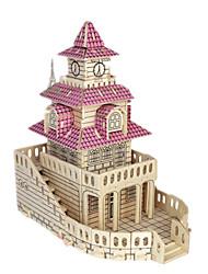 Недорогие -3D пазлы / Пазлы / Наборы для моделирования Знаменитое здание / Мебель / Лошадь Своими руками / моделирование деревянный Классика Детские Универсальные Подарок