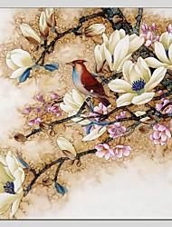 economico -Dipinta a mano Floreale/Botanical Astratto Un Pannello Tela Hang-Dipinto ad olio For Decorazioni per la casa
