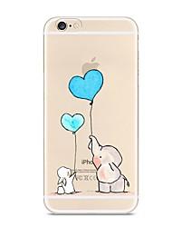 preiswerte -Für iPhone X iPhone 8 Hüllen Cover Transparent Muster Rückseitenabdeckung Hülle Elefant Weich TPU für Apple iPhone X iPhone 8 Plus iPhone