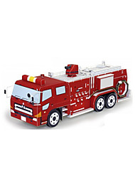 cheap -Toy Car 3D Puzzles Paper Model Train Chariot Fire Engines DIY Classic Construction Truck Set Train Fire Engine Vehicle Kid's Unisex Gift