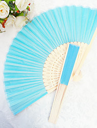 cheap -Bachelorette Silk Hand Fans Ladies Night Out Essentials 2.5*1.3*21 cm/pcs Aqua Blue The Same Sex Wedding Favor