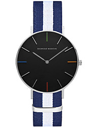 cheap -Men's Fashion Watch Quartz Hot Sale Nylon Band Casual Stripes Black White Blue Red Pink
