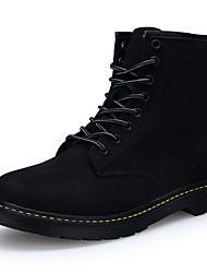 Недорогие -Для женщин Ботинки Удобная обувь Армейские ботинки Кожа Осень Зима Повседневные Для праздника Для вечеринки / ужина ШнуровкаНа плоской