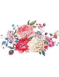 cheap -Floral/Botanical Florals Wall Stickers Plane Wall Stickers Height Stickers,Plastic Home Decoration Wall Decal For Wall