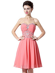 cheap -Princess Strapless Knee Length Chiffon Cocktail Party Dress with by Sarahbridal