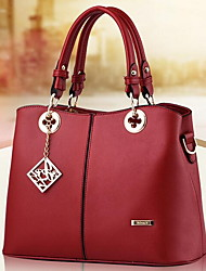 Women Bags Spring/Fall Winter PU Shoulder Bag for Casual White Black Aquamarine Fuchsia Wine
