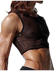 Men's Casual clothes mens Tank Top Nylon mesh TP0056