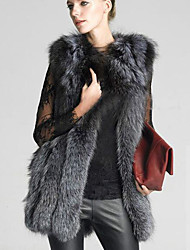 Women's Casual/Daily Simple Winter Vest,Solid Cowl Sleeveless Long Others