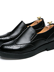 Men's Shoes PU Summer Fall Comfort Light Soles Formal Shoes Loafers & Slip-Ons For Casual Office & Career Black Gray Red